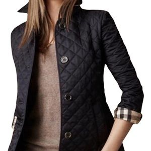Burberry jacket black quilted